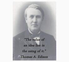 Value Of An Idea - Thomas Edison Kids Tee