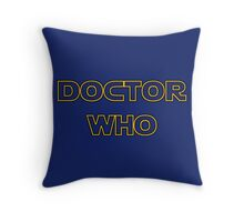 Doctor Who Meets Star Wars Throw Pillow