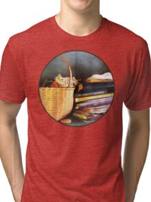 Books, Basket and Quills Tri-blend T-Shirt