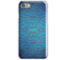 Blue Tiger Stripes iPhone Case/Skin