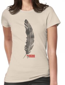 Sleeping with sirens feather band  Womens Fitted T-Shirt