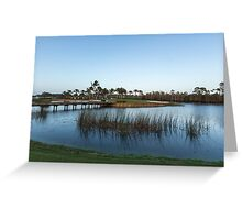 Blue hour on a golf course Greeting Card