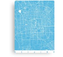 Beijing map blue Canvas Print