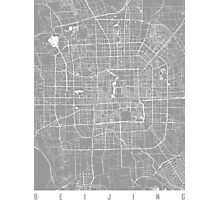 Beijing map grey Photographic Print