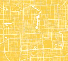 Beijing map yellow Sticker