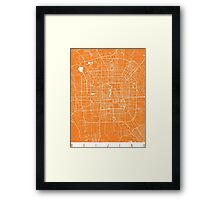 Beijing map orange Framed Print
