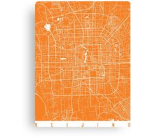Beijing map orange Canvas Print