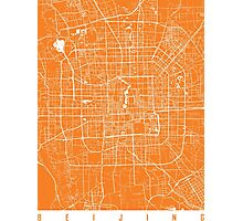 Beijing map orange Photographic Print
