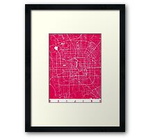 Beijing map raspberry Framed Print