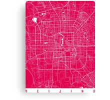 Beijing map raspberry Canvas Print