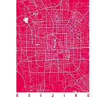 Beijing map raspberry Photographic Print