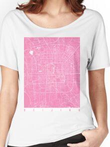 Beijing map pink Women's Relaxed Fit T-Shirt