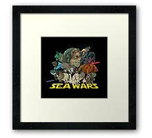 SEA WARS! Framed Print