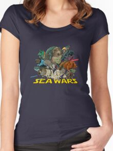 SEA WARS! Women's Fitted Scoop T-Shirt