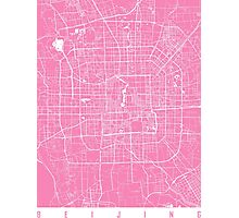 Beijing map pink Photographic Print