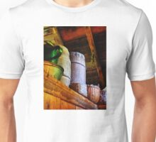 Baskets and Barrels in Attic Unisex T-Shirt