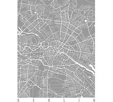 Berlin map grey Photographic Print
