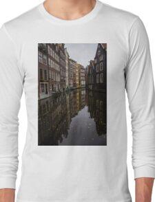 Amsterdam - Serene Fall Reflections Long Sleeve T-Shirt