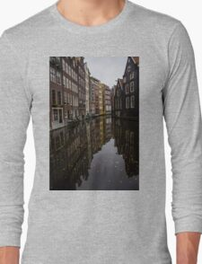 Amsterdam - Serene Fall Reflections Long Sleeve T-Shirt