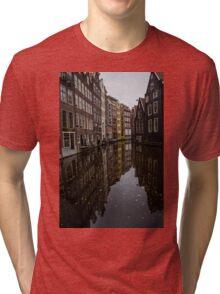 Amsterdam - Serene Fall Reflections Tri-blend T-Shirt
