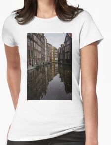 Amsterdam - Serene Fall Reflections Womens Fitted T-Shirt