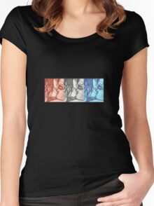Three Times She Bites My Lip Women's Fitted Scoop T-Shirt