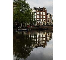 Amsterdam Canal Houses in the Rain Photographic Print