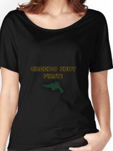 Star Wars - Greedo Shot First! Women's Relaxed Fit T-Shirt