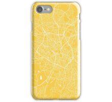 Birmingham map yellow iPhone Case/Skin