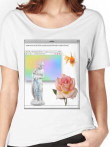 Rose vaporwave Aesthetics Women's Relaxed Fit T-Shirt