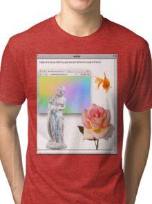 Rose vaporwave Aesthetics Tri-blend T-Shirt