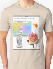 Rose vaporwave Aesthetics Unisex T-Shirt