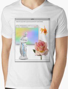 Rose vaporwave Aesthetics Mens V-Neck T-Shirt