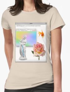 Rose vaporwave Aesthetics Womens Fitted T-Shirt