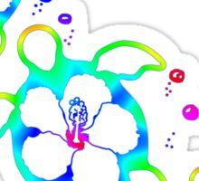 3 Tie Dyed Honu Turtles Sticker