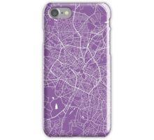 Birmingham map lilac iPhone Case/Skin