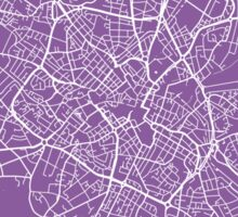Birmingham map lilac Sticker
