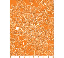 Birmingham map orange Photographic Print