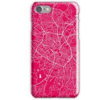 Birmingham map raspberry iPhone Case/Skin