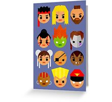 Street Fighter 2 Mini Greeting Card