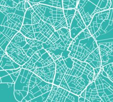 Birmingham map turquoise Sticker