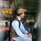 Colonial Man in Kitchen by Susan Savad