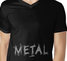 METAL Mens V-Neck T-Shirt