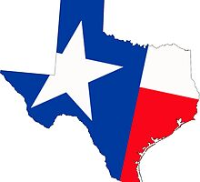 Texas Map with Texas State Flag by Havocgirl