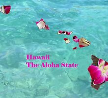 Hawaii Map with State Nickname:  The Aloha State by Havocgirl