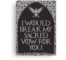 Sacred Vow Canvas Print