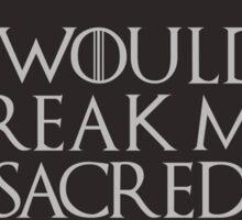 Sacred Vow Sticker