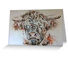 highland coo! Greeting Card