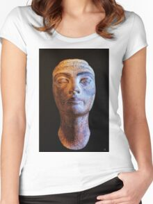 Unfinished Nefertiti Women's Fitted Scoop T-Shirt