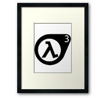 Half-Life 3 Framed Print